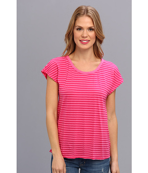 Mod-o-doc - Tonal Tencel Stripe Scoopneck Tee (Honeysuckle) Women