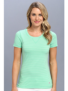 SALE! $9.99 - Save $16 on Jones New York S S Scoop Neck Tee (Bud Green White) Apparel - 61.58% OFF $26.00