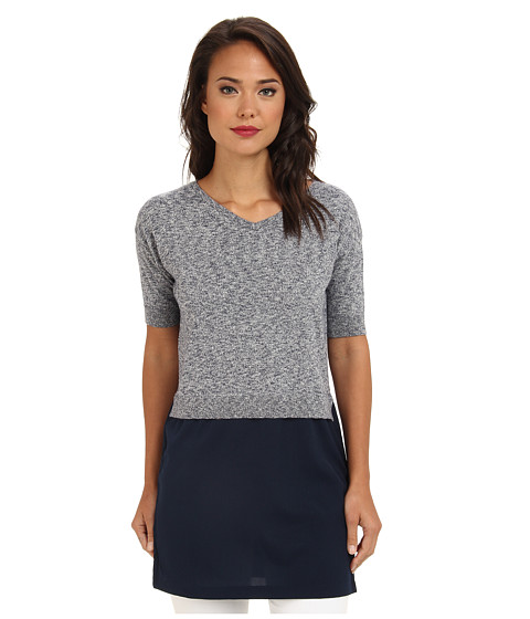 French Connection - Odette Knits 71CEC (Blue Melange) Women's Sweater
