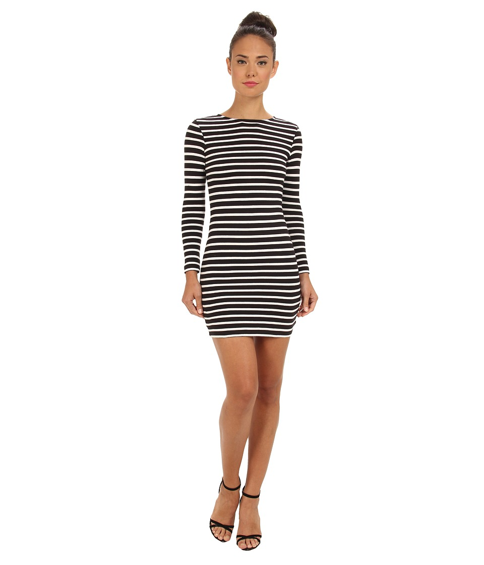 French Connection - French Stripe 71CBB (Black/Winter White) Women's Dress