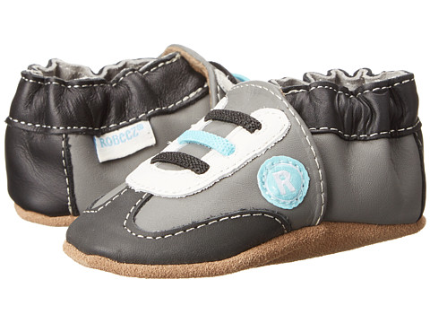 Robeez - All Star Rodney (Infant/Toddler) (Grey) Boy's Shoes