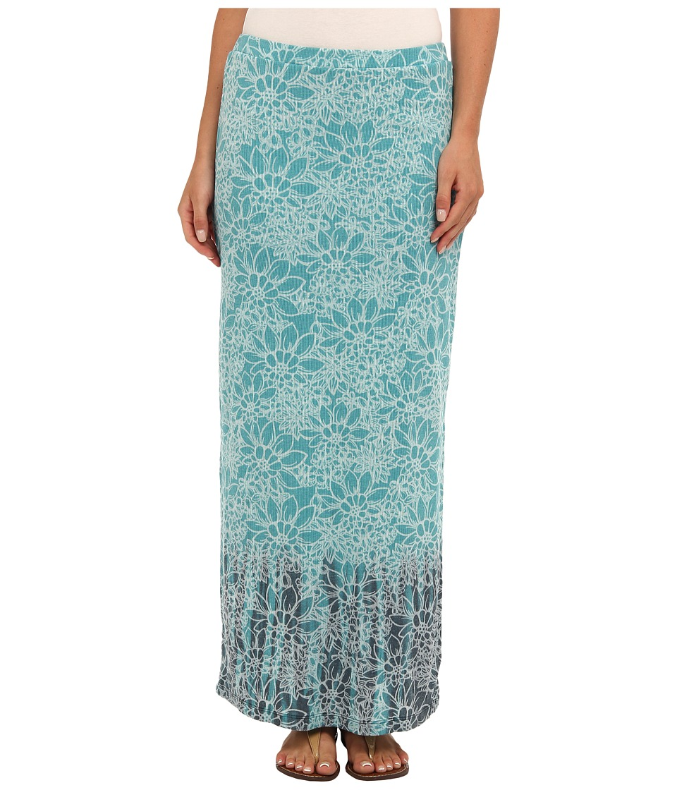 Mod-o-doc - Floral Burnout Rib Long Skirt (Mermaid) Women's Skirt