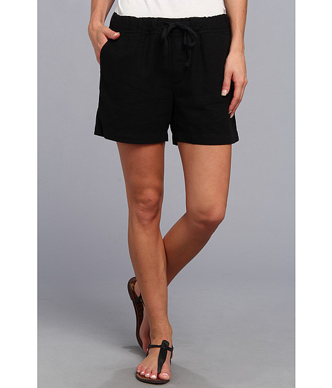 Mod-o-doc - Linen Rayon Drawstring Short (Black) Women's Shorts