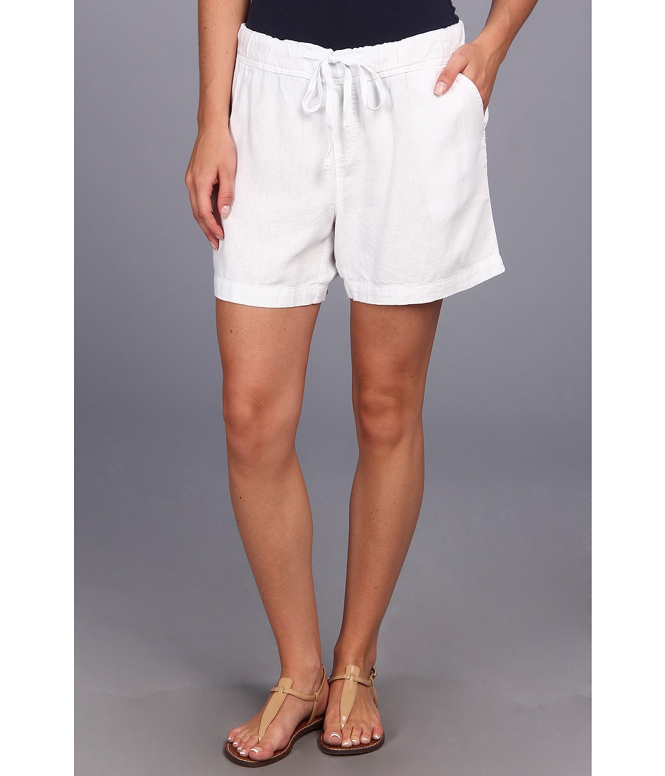 Mod-o-doc - Linen Rayon Drawstring Short (White) Women