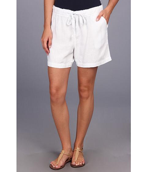Mod-o-doc - Linen Rayon Drawstring Short (White) Women