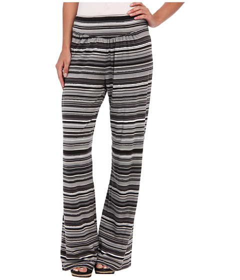 Mod-o-doc - Beach Stripe Cotton Modal Straight Leg Pant (Storm) Women