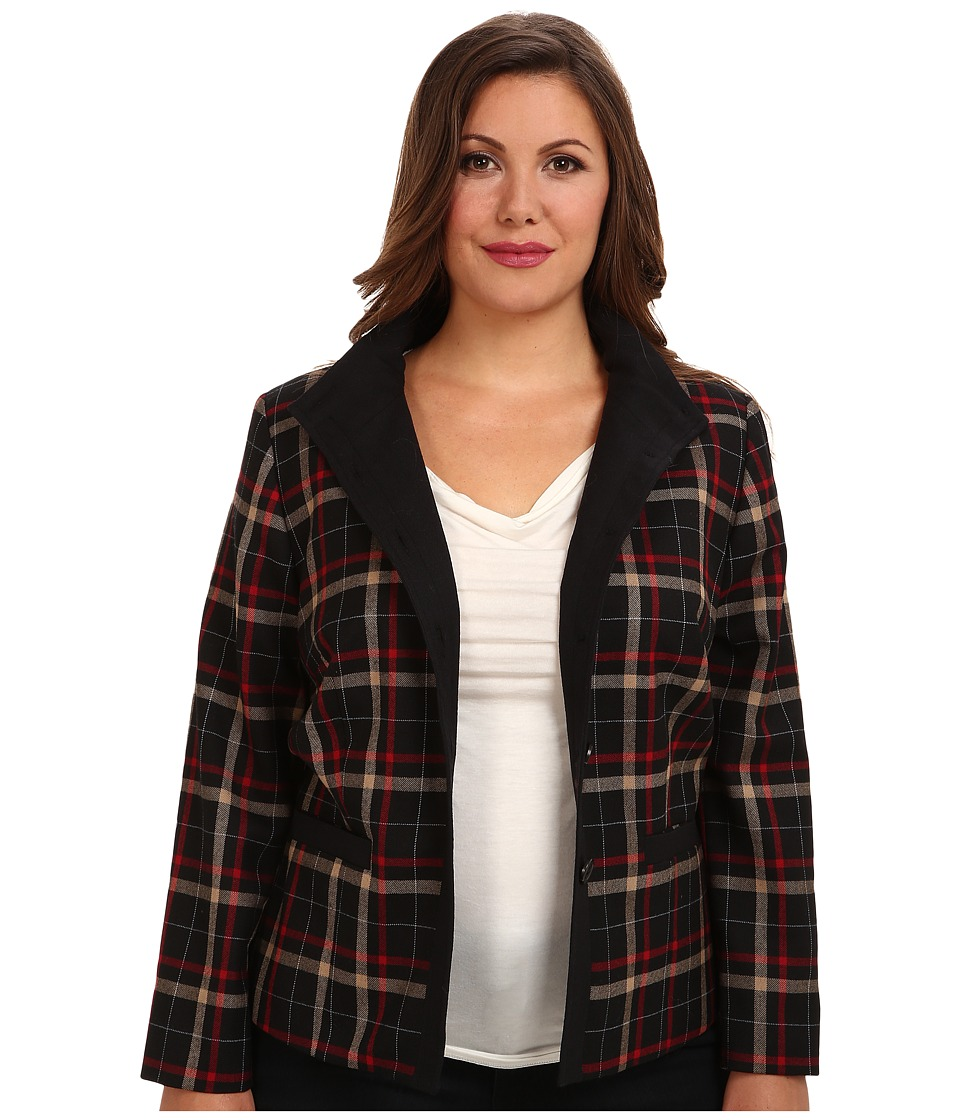 Pendleton - Plus Size Helena Jacket (Black/Camel/Red WF Plaid) Women