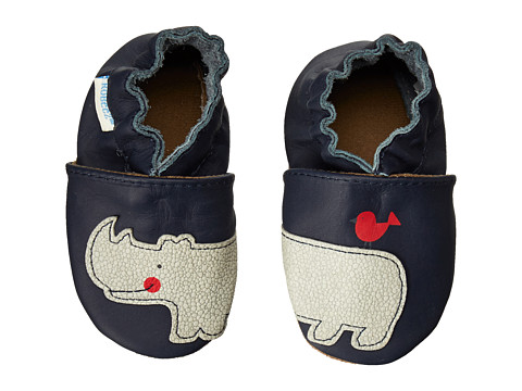 Robeez - Friends Wrap Wround Soft Soles (Infant/Toddler) (Navy) Boys Shoes