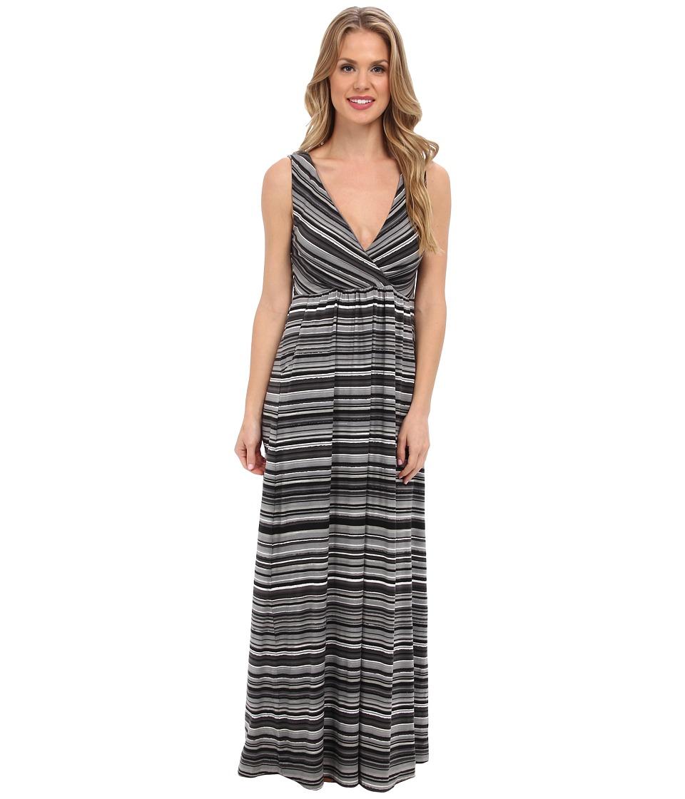 Mod-o-doc Beach Stripe Cotton Modal Maxi Dress (Storm) Women