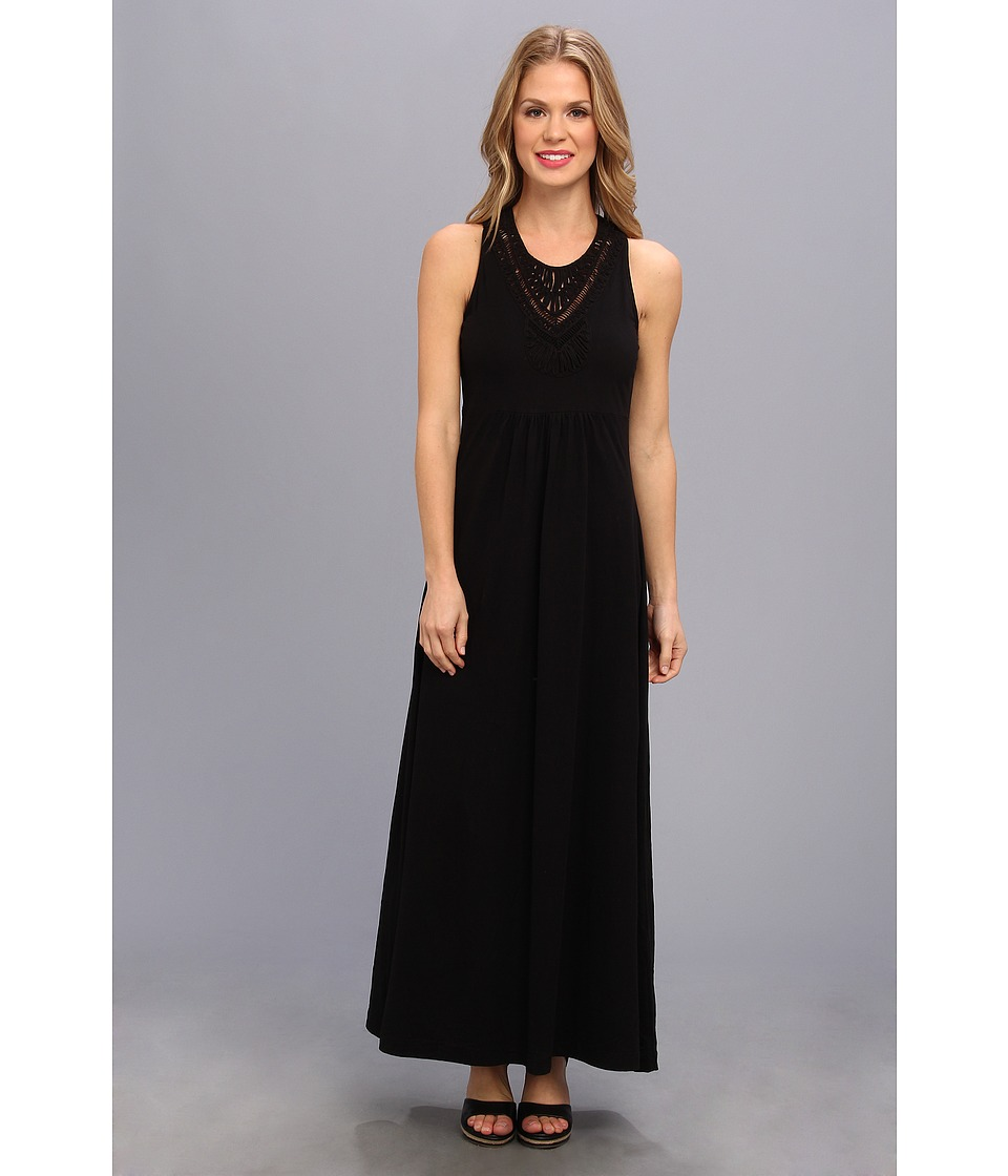 Mod-o-doc - Classic Jersey Lattice Trim Tank Dress (Black) Women