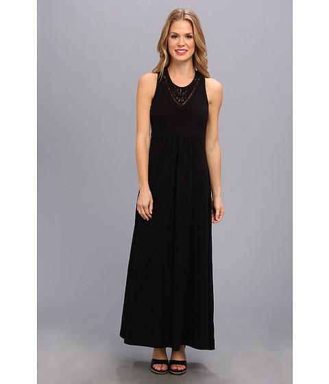 Mod-o-doc - Classic Jersey Lattice Trim Tank Dress (Black) Women