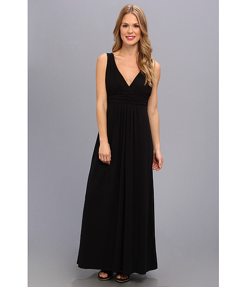 Mod-o-doc - Cotton Modal Maxi Dress (Black) Women's Dress