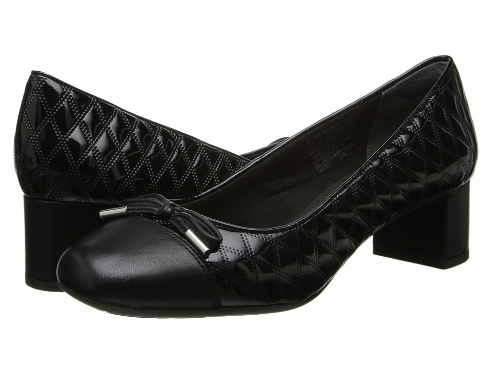 Rockport - Total Motion 45 Square Quilted Cap Pump (Black Leather) Women's Shoes