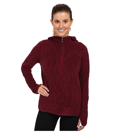 White Sierra - Rainbow Quarter Zip Hoody (Beet Red) Women's Sweatshirt
