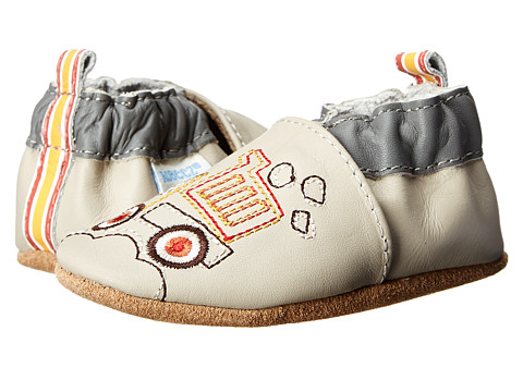 Robeez - Lofty Soft Soles (Infant/Toddler) (Pale Grey) Boys Shoes
