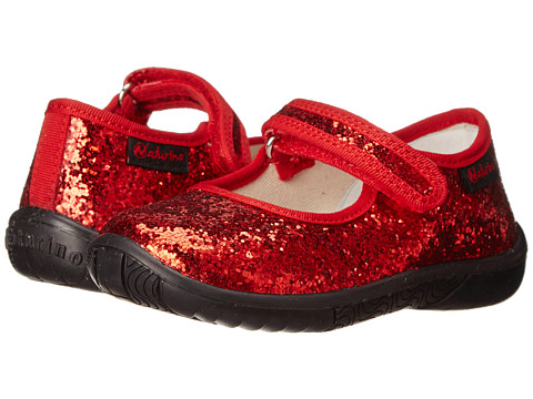 Naturino - 7703 FA14 (Toddler/Little Kid) (Red Glitter) Girls Shoes