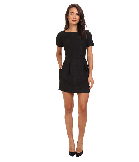 French Connection - Croc Luxe 71CCX (Black/Winter White) Women's Dress