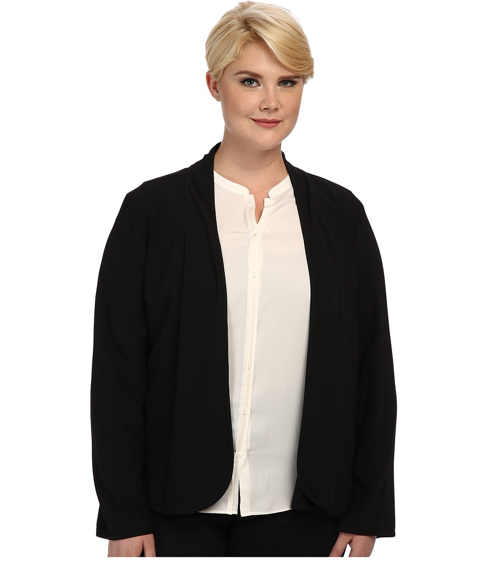 Pendleton - Plus Size Travel Tricotine Cascade Jacket (Black Travel Tricotine) Women