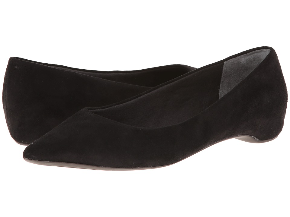 Rockport - Total Motion 20mm PT Plain Skimmer (Black Suede) Women's Wedge Shoes