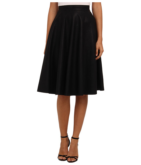 French Connection - Pu Flared Skirt 73CXA (Black) Women's Skirt