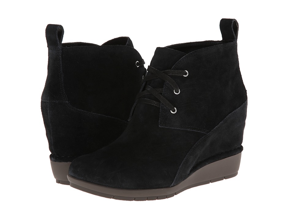 Rockport - Total Motion 80mm Desert Boot - Lace Up (Black Nubuc) Women's Lace-up Boots