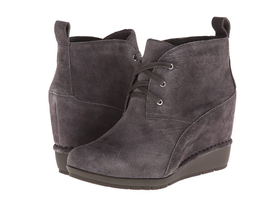 Rockport - Total Motion 80mm Desert Boot - Lace Up (Eiffel Tower Nubuck/Grey) Women's Lace-up Boots