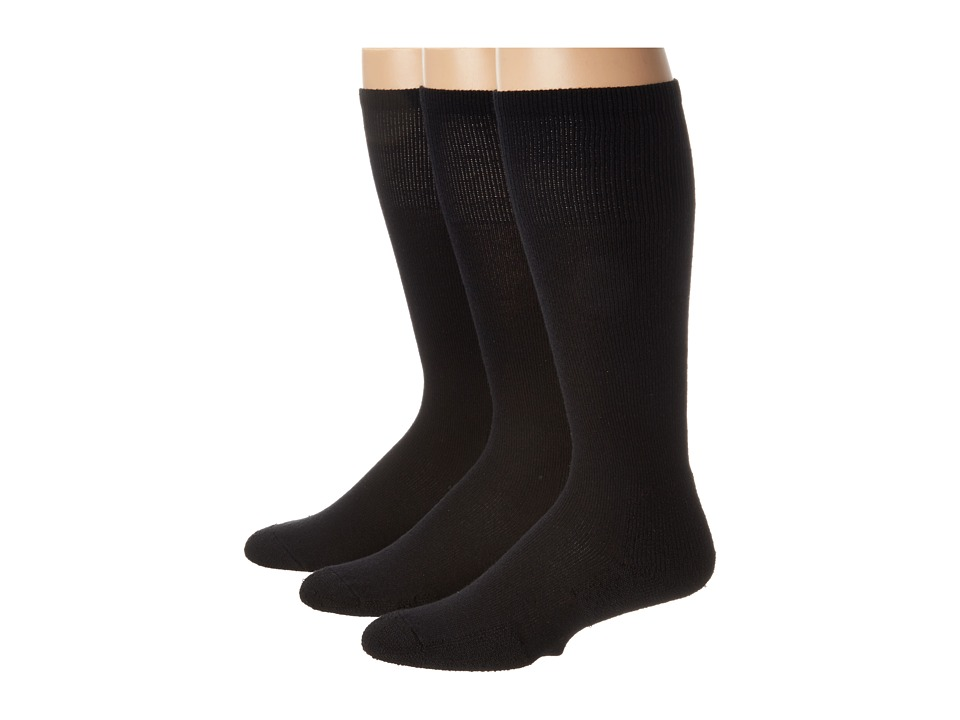 Thorlos - Over Calf Ultra Light 3 Pair Pack (Black) Crew Cut Socks Shoes