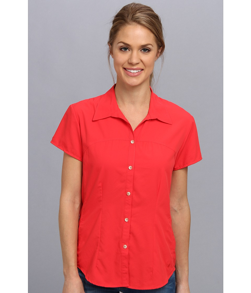 White Sierra - Gobi Desert Short Sleeve Shirt (Hibiscus) Women