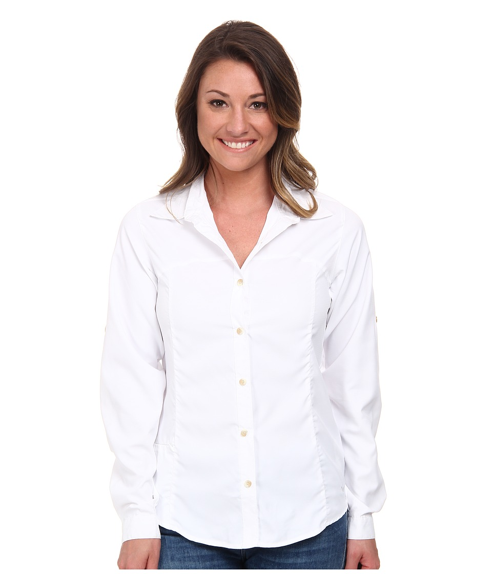 White Sierra - Gobi Desert Long Sleeve Shirt (White) Women's Long Sleeve Button Up