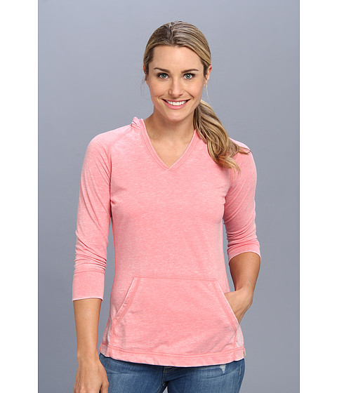 White Sierra - Antique 3/4 Sleeve Hoodie (Coral) Women's Sweatshirt