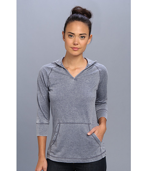 White Sierra - Antique 3/4 Sleeve Hoodie (Vintage Indigo) Women's Sweatshirt