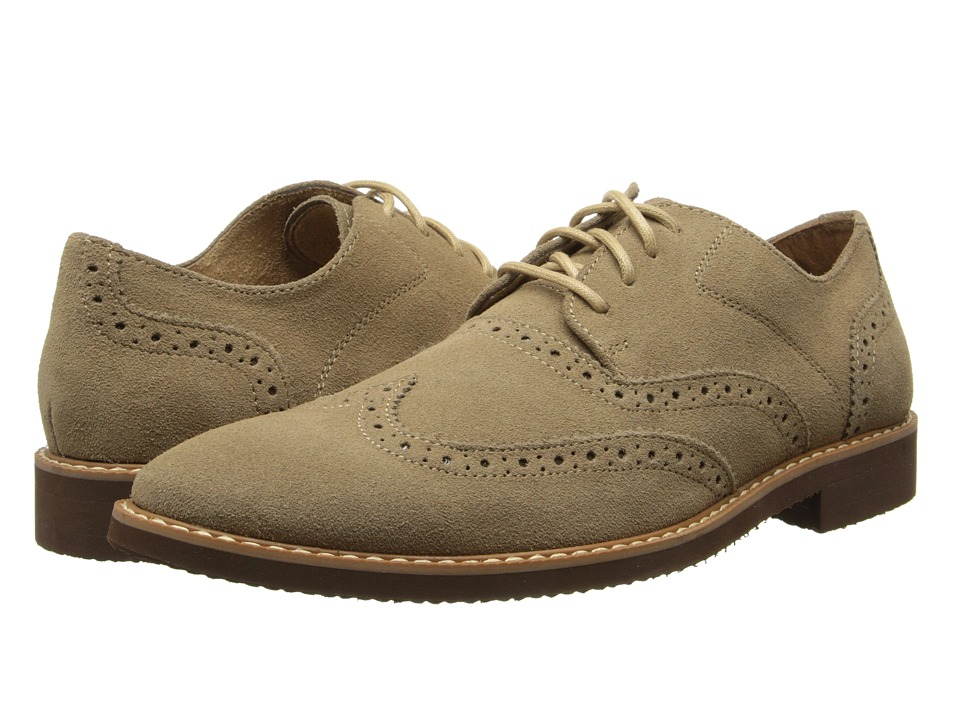 Stacy Adams - Sloane (Sand Suede) Men's Lace Up Wing Tip Shoes