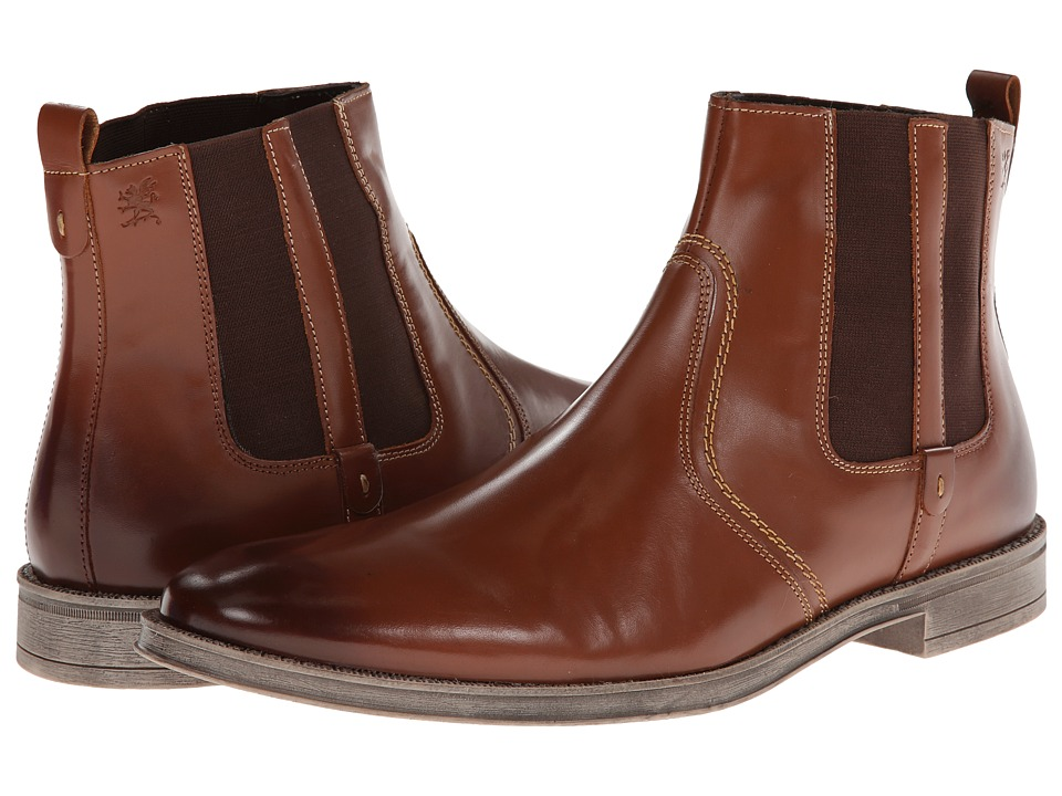 Stacy Adams Carnaby (Cognac Hand Burnished Leather) Men