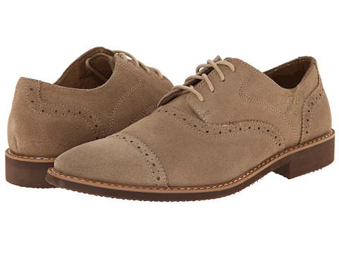 Stacy Adams - Seaver (Sand Suede) Men's Lace Up Cap Toe Shoes