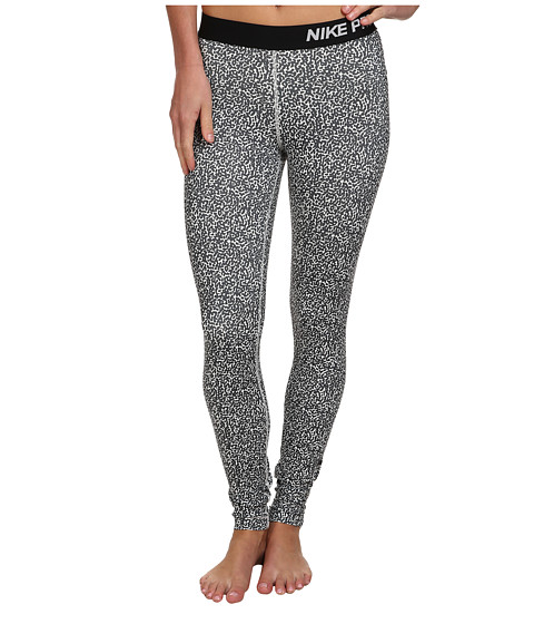 Nike - Pro Mezzo Print Tight (Ivory/Dark Ash/Dark Ash) Women's Clothing