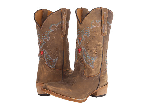 Dan Post Kids - Steel Heart (Big Kid) (Tan Distressed) Cowboy Boots