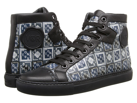Viktor & Rolf - Dutch Artist Piet Parra's Monsieur Printed Leather Sneaker (Print) Men's Lace up casual Shoes