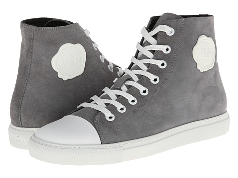Viktor & Rolf - Suede Classic Hi-Top Sneaker (Grey) Men's Lace up casual Shoes