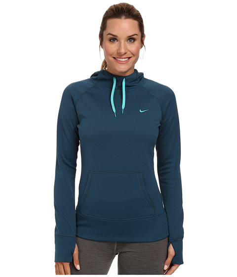 Nike - All Time Hoody FA14 (Space Blue/Dusty Cactus) Women's Sweatshirt