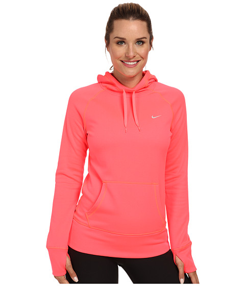 Nike - All Time Hoody FA14 (Hyper Punch/Light Ash Grey) Women's Sweatshirt