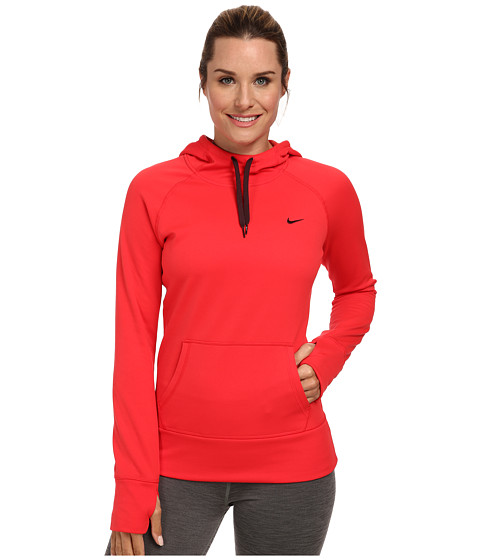 Nike - All Time Hoody FA14 (Action Red/Deep Burgundy) Women's Sweatshirt