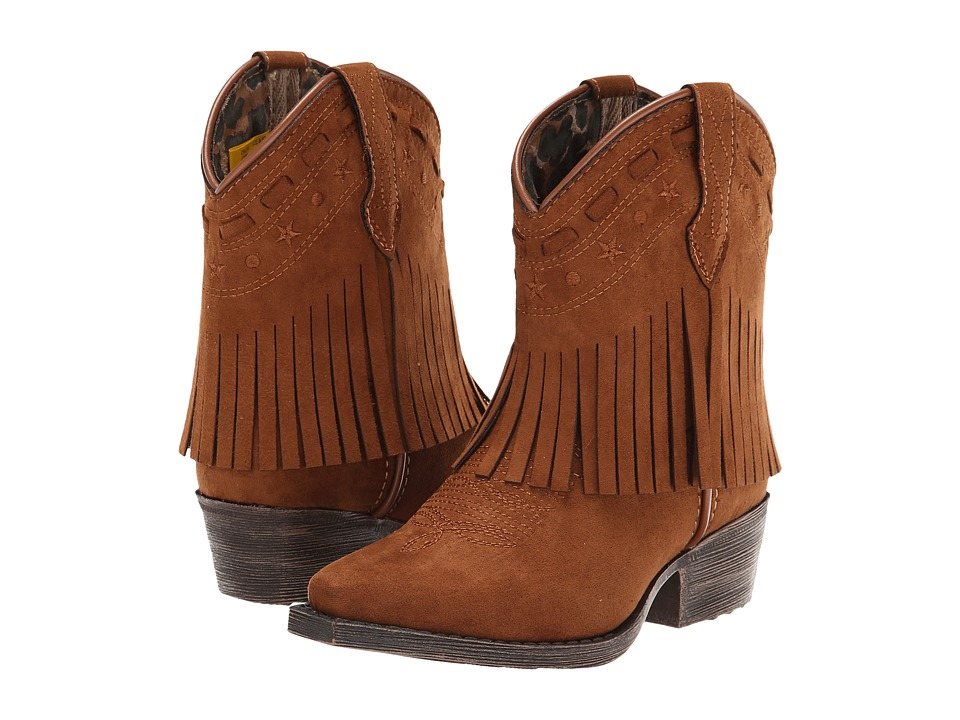Laredo Kids - Gingersnap (Toddler/Little Kid) (Rust Microfiber) Cowboy Boots