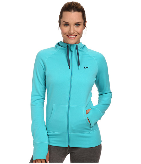Nike - All Time Full Zip Hoodie (Dusty Cactus/Space Blue) Women's Sweatshirt