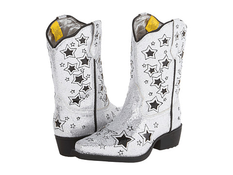 Laredo Kids - Star Seeker (Toddler/Little Kid) (Silver) Cowboy Boots