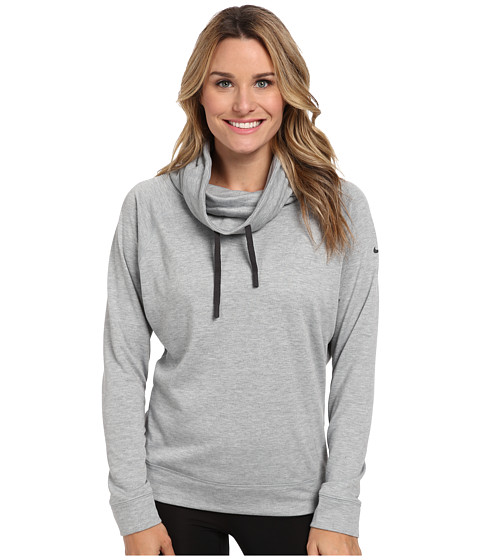 Nike - Obsessed Infinity Coverup L/S Top (Dark Grey Heather/Anthracite) Women