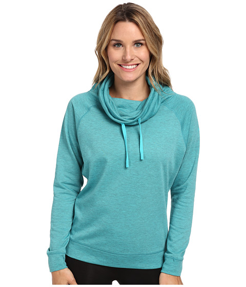 Nike - Obsessed Infinity Coverup L/S Top (Dusty Cactus Heather/Dusty Cactus) Women's Long Sleeve Pullover