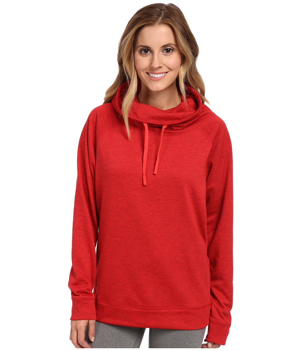 Nike - Obsessed Infinity Coverup L/S Top (Gym Red Heather/Action Red) Women