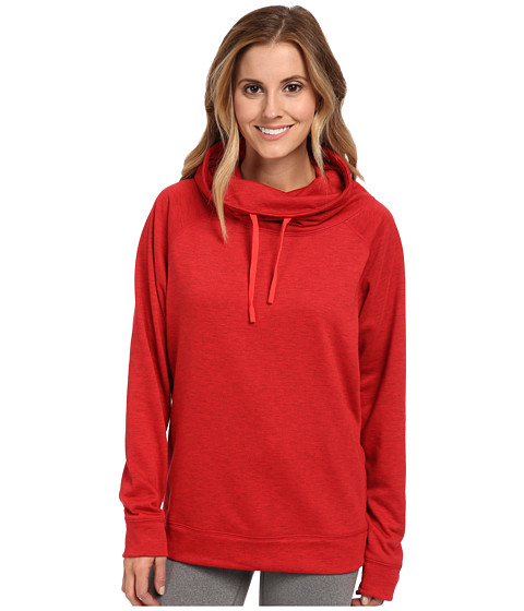 Nike - Obsessed Infinity Coverup L/S Top (Gym Red Heather/Action Red) Women's Long Sleeve Pullover