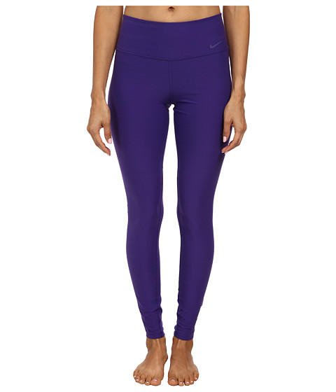 Nike - Legend 2.0 Tight Poly Pant (Court Purple/Action Red/Cool Grey) Women's Workout