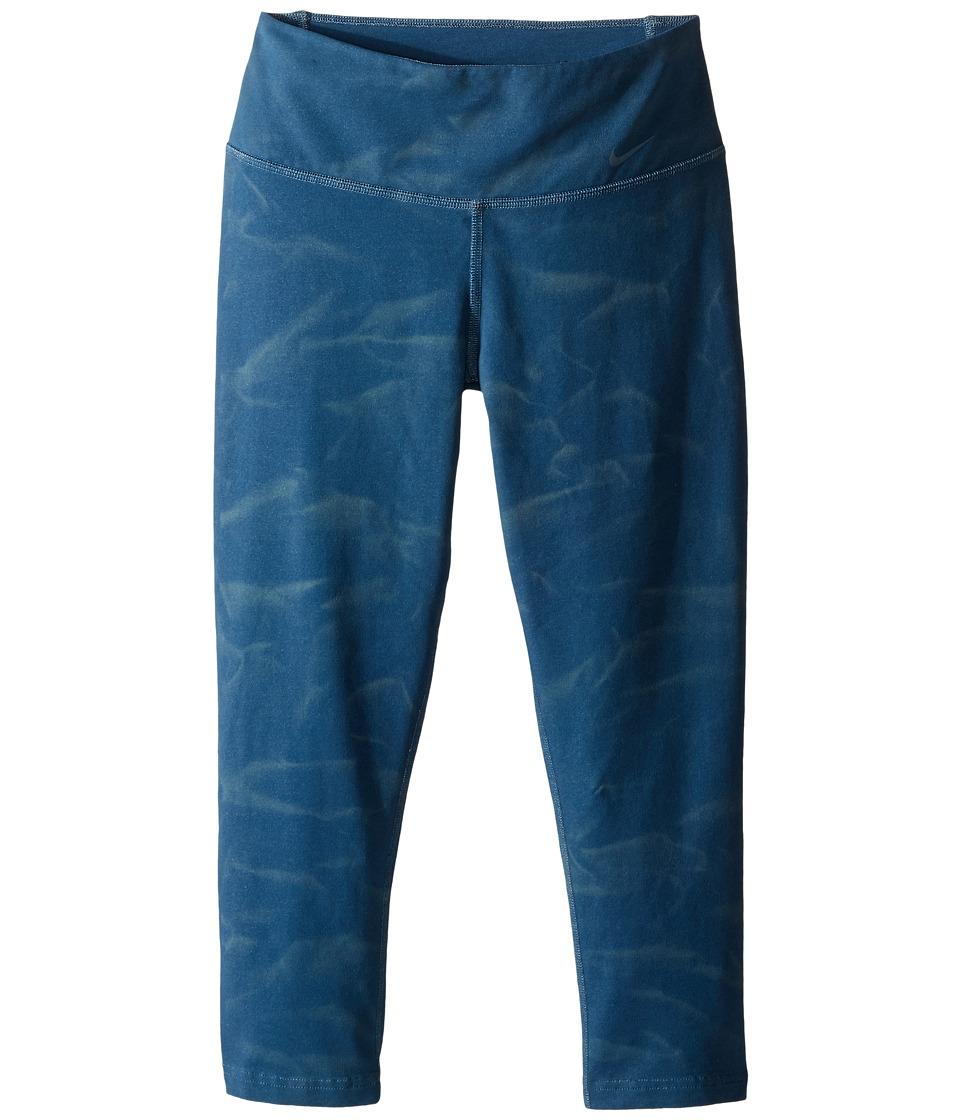 Nike - Legend 2.0 Heather Dye Tight Pant (Space Blue/Space Blue) Women's Workout
